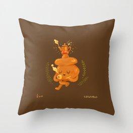 in a peace. tea time! Throw Pillow