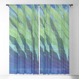 Palm Shadows Sheer Curtain