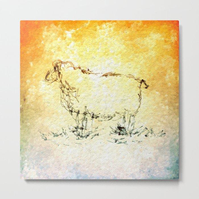 Draw me a sheep Metal Print