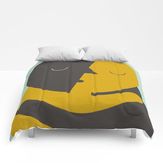 Love poster Comforters