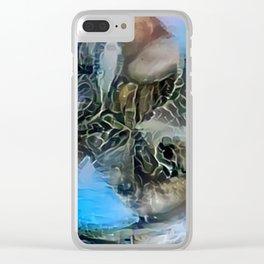 Blue Polignano Ambersand Clear iPhone Case