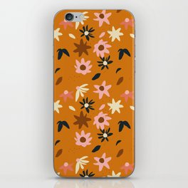 Fall flowers pattern iPhone Skin