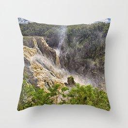 Roaring water at Barron Falls Throw Pillow