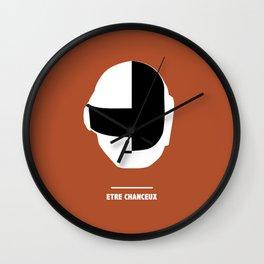 ETRE CHANCEUX (Daft Punk) Wall Clock