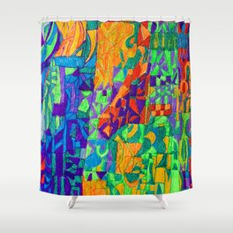 Horse in Stable Mode Shower Curtain