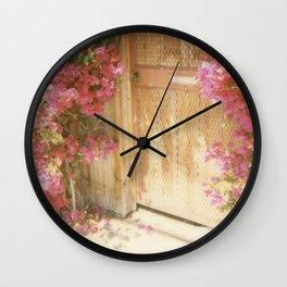 California Bougainvillea Wall Clock