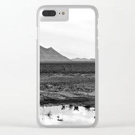 Salt Flat Road Clear iPhone Case