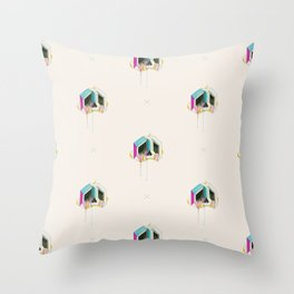 Sugarcube skull Throw Pillow