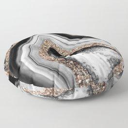 Agate Gold Glitter Glam #1 #gem #decor #art #society6 Floor Pillow