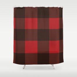 Red & Black Plaid Shower Curtain