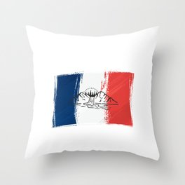 France | Mountain sports | Sports | Snowboarding | Powder Rider | Snowboard Lover | Flag | National Throw Pillow