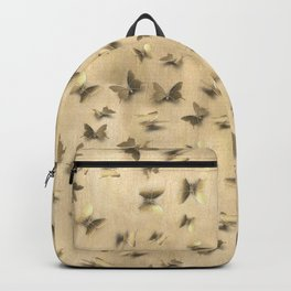 Butterfly Chaos Golden Pastel Backpack