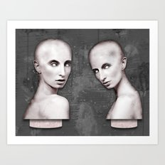 There are two colours in my head Art Print