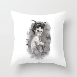 Sympathy for the Devil Throw Pillow