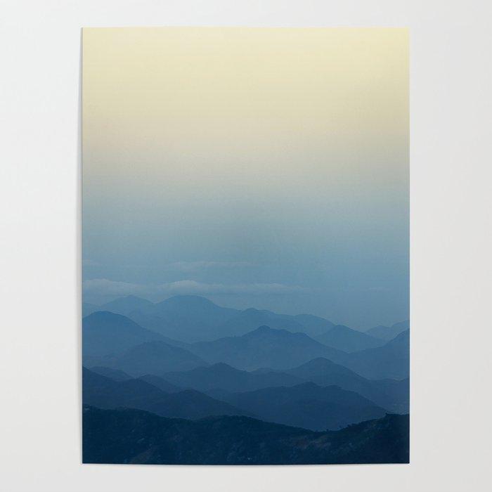 Calming Mountains in Rio de Janeiro, Brazil Poster