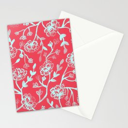 Watercolor Peonies - Guava Mint Stationery Cards