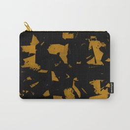 Looking For Gold - Abstract gold and black painting Carry-All Pouch