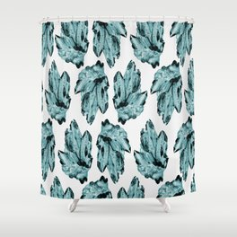 blue raspberry crystal cluster Shower Curtain