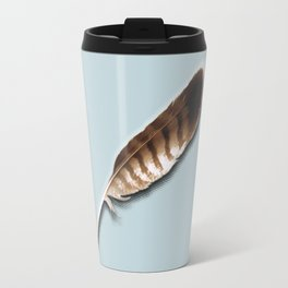 Tail feather of a buzzard Travel Mug