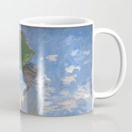 1875-Claude Monet-Woman with a Parasol - Madame Monet and Her Son-81 x 100 Coffee Mug