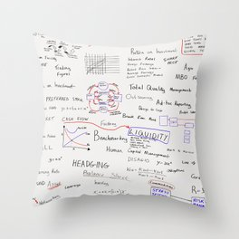 Business words Throw Pillow