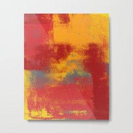 Orange Red Yellow Gray Metal Print