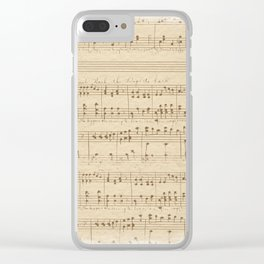 The Music Vintage Clear iPhone Case