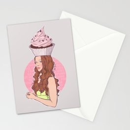Cupcake Girl Stationery Cards