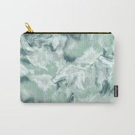Marble Mist Green Grey Carry-All Pouch