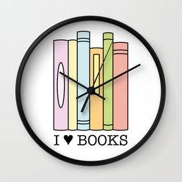 I love books ! Wall Clock