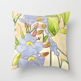 Thunbergia Throw Pillow