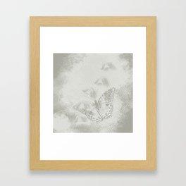 delicate butterflies and textured chevron pattern Framed Art Print