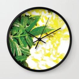 Pretty yellow flowers Wall Clock