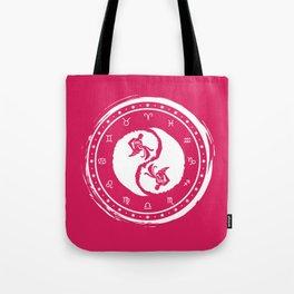 Aquarius Yin Yang Eleventh Zodiac Sign Tote Bag