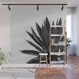 Agave Cactus Black & White Wall Mural