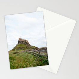 The twisted path towards Lindisfarne Castle atop a hill on Holy Island, Northumberland Stationery Cards