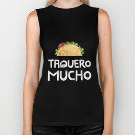 Taquero Mucho Pun Spanish I Love You Very Mush Hispanic Tshirt. Great gift tshirt for a birthday, Biker Tank