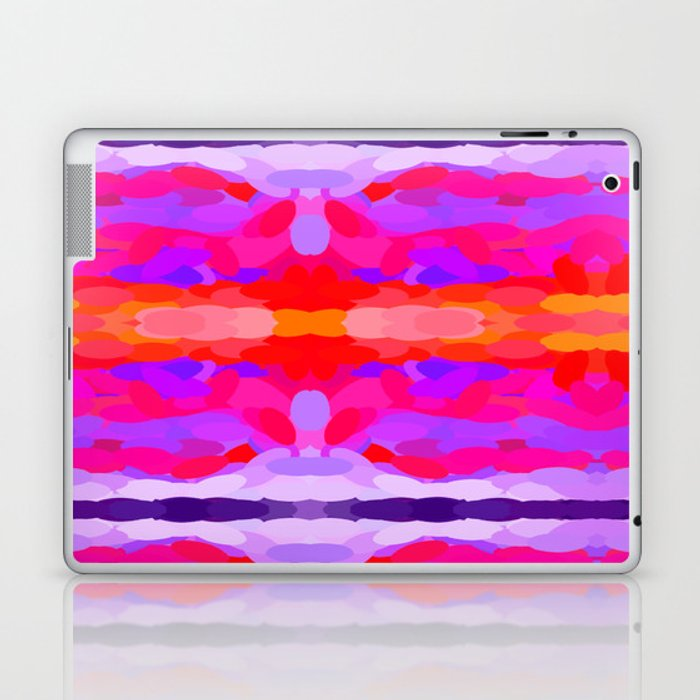 Purple, pink and orange tie dye Laptop & iPad Skin