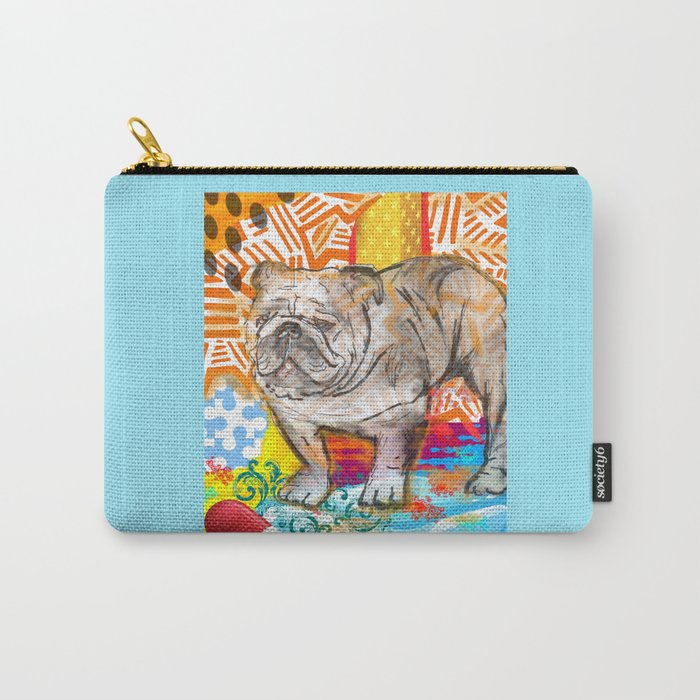 Bulldog pop art Carry-All Pouch