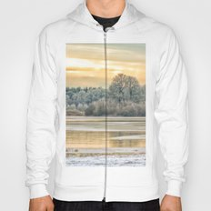 Walk on the winter lake Hoody
