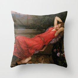 Ariadne, John William Waterhouse Throw Pillow