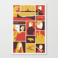 lannister Canvas Prints featuring House Lannister by Jack Howse