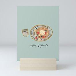 Wafles y Fruta Breakfast Mini Art Print
