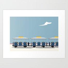 Camargue Little train Art Print