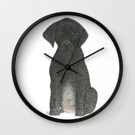 """Boogie"" the Black Labrador Puppy Wall Clock"