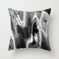 psychedelia in black & white Throw Pillow