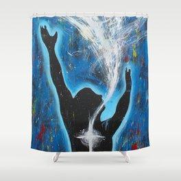 Holy Spirit Worship art Shower Curtain