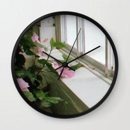 Pink Window Wall Clock