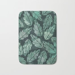 Colorful leaves IV Bath Mat