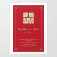 princess bride Art Prints featuring The Princess Bride by MacGuffin Designs